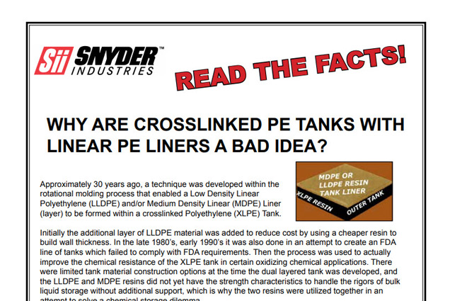 Cross Linear Lined Tanks Brochure