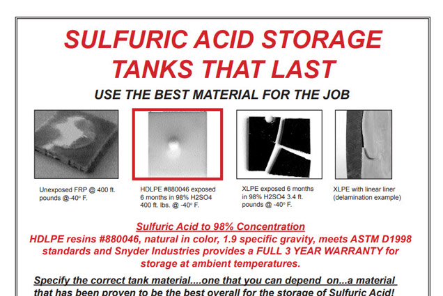 Sulfuric Acid Storage Brochure