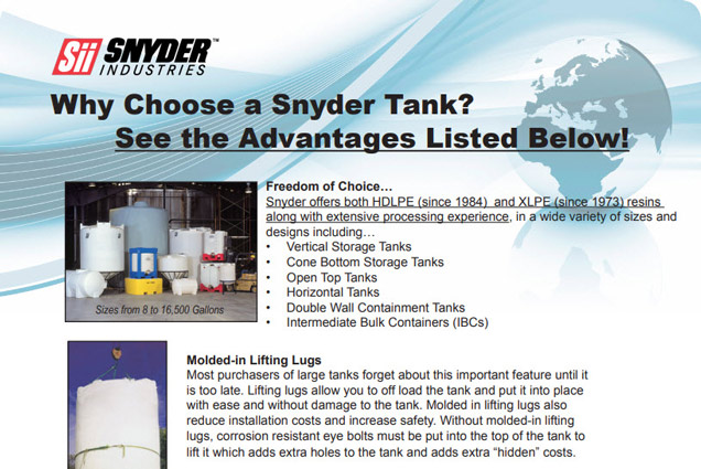 Why Choose A Snyder Tank Brochure