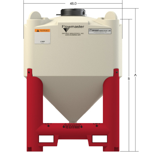 Flowmaster Viscous Liquid Hopper Dimensions