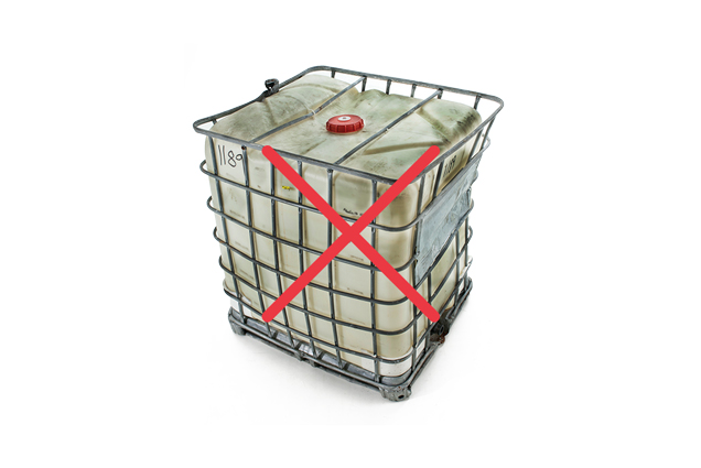 Dirty Caged IBC Tote