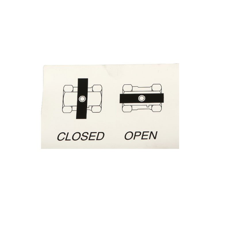 345585 Decal - Valve Open/Close w/ Wing Handle (Inline Open)