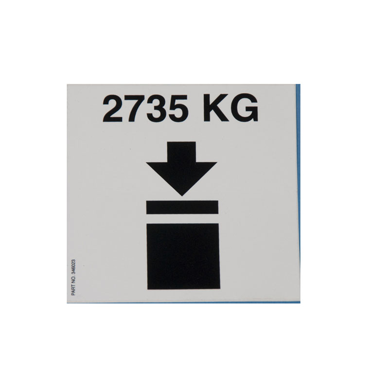 346023 Decal- Stacked 350 Gallon Metal IBC