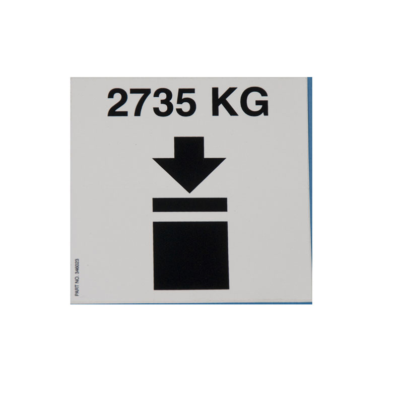 346024 Decal - Stacked 550 Gallon Metal IBC