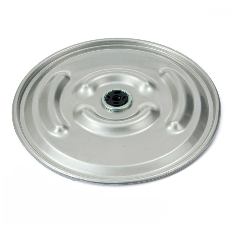 35901163 22 5/16in 304 SS Raised Bumpy Lid - 2in Rieke Vent