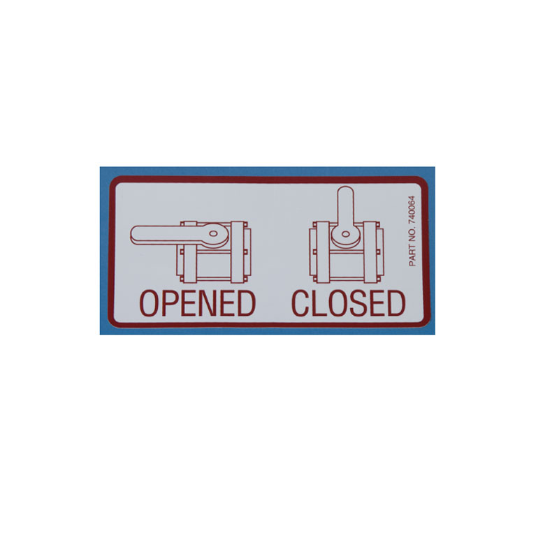 740064 Decal - Valve Open/Close for Tuff Tank II