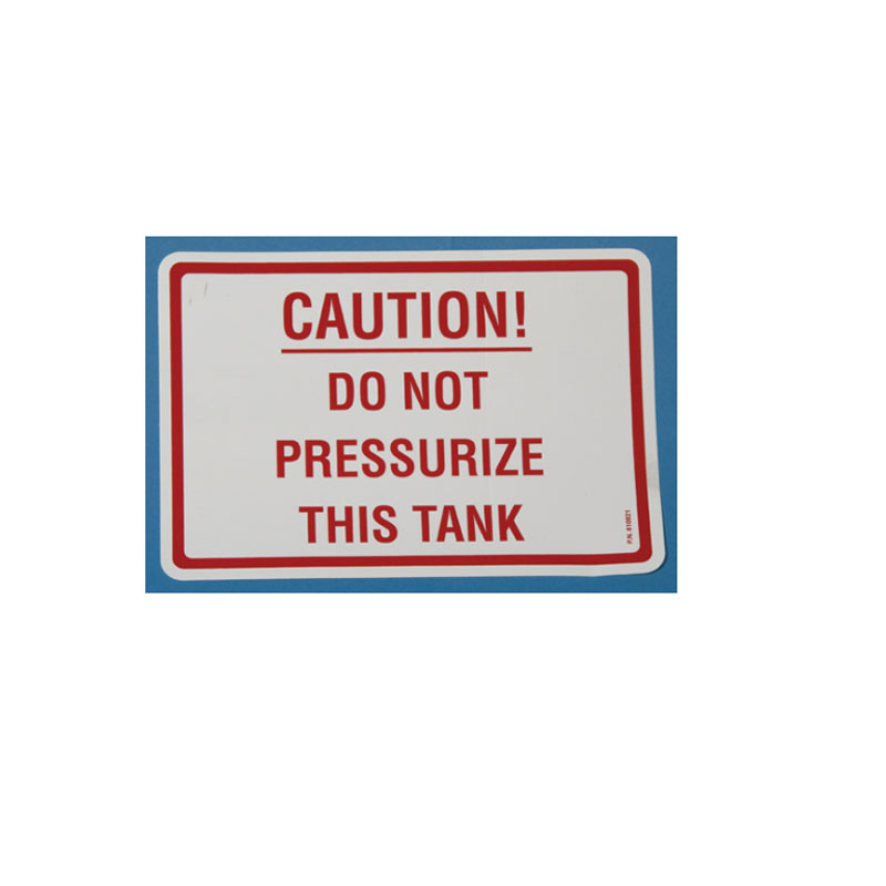 810821 Decal - Caution - Do Not Pressurize This Tank