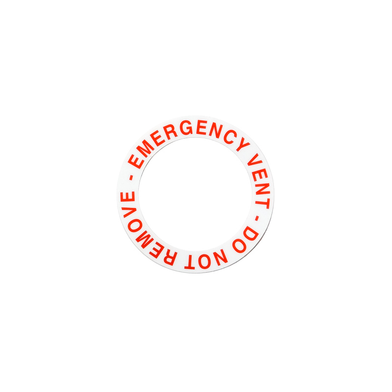99700246 Emergency Vent Decal