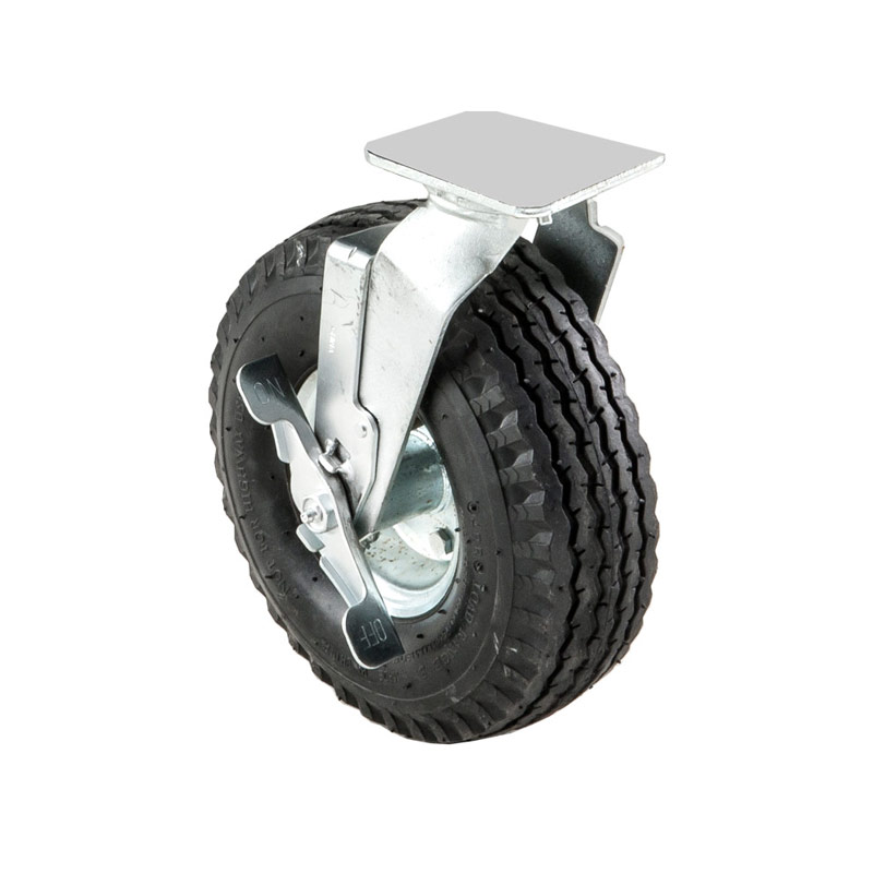 36100065 Pneumatic Wheel only, 10 In. Swivel w/brake