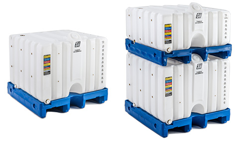 Cubetainer Double Pallet Stacks