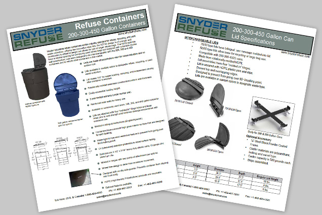 200, 300, 450 Gallon Containers Brochure