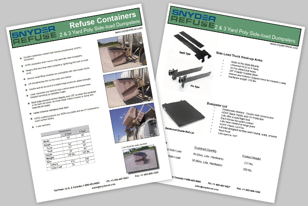 Side-Load Dumpsters Brochure